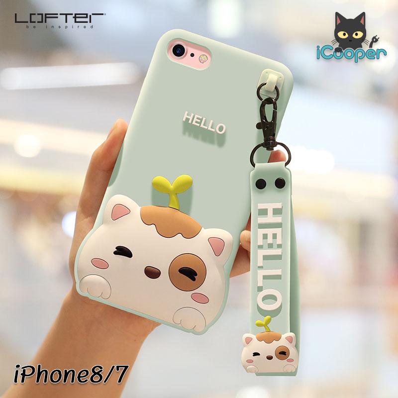 LOFTER Hello Meow Silicone - Aquamarine (iPhone7/8)