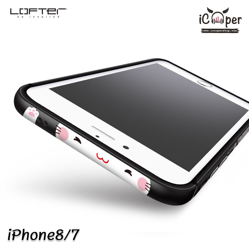 LOFTER Meow Bumper - Black (iPhone8/7)