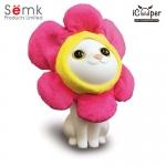Semk - Kat Saving Bank (Sitting Cats/Flower Clothing)