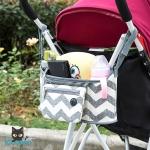 RONG.SHI.DAI Baby Stroller Hanging Bag (Stripe)