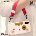 LOFTER Meow Silicone - White (iPhoneX)